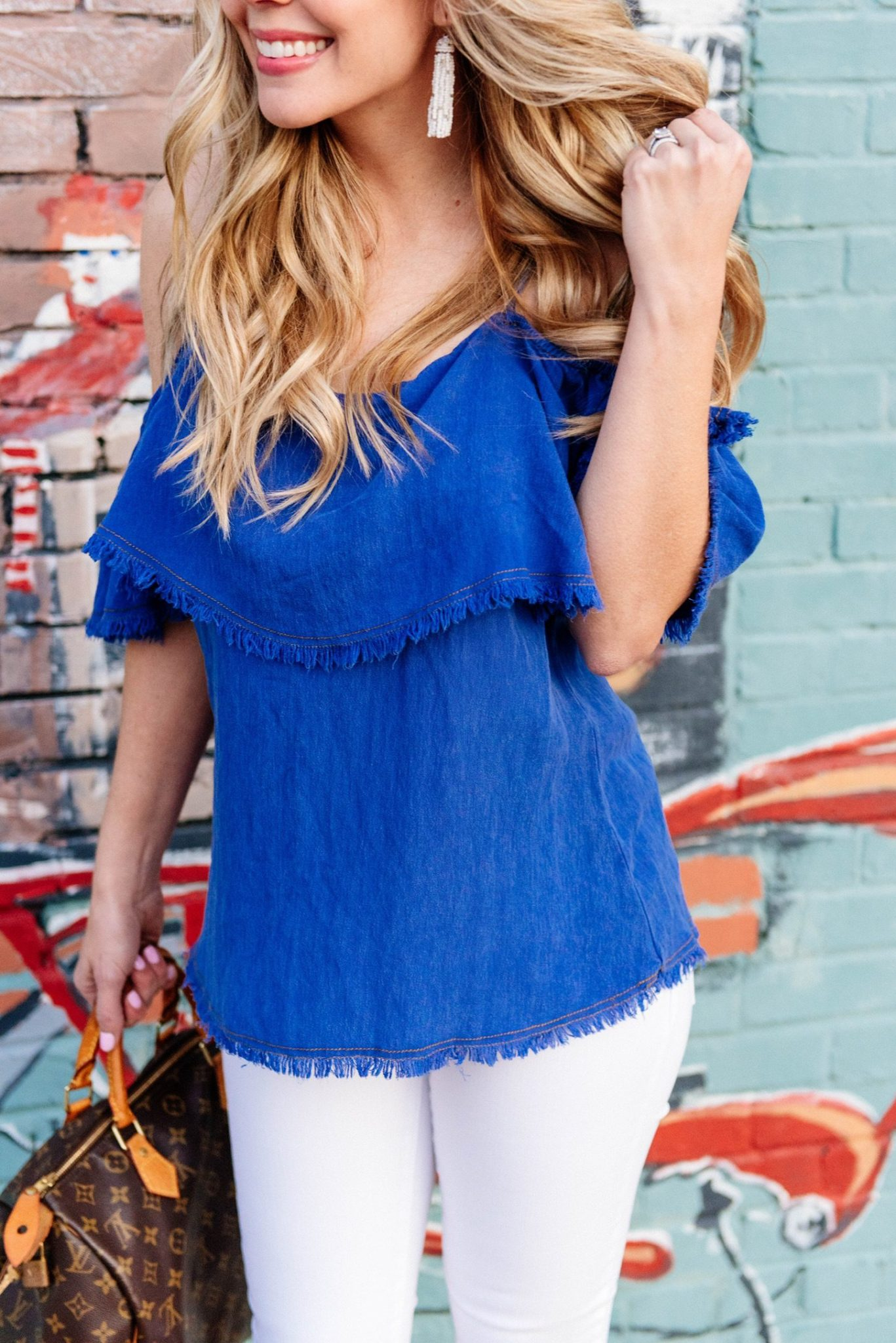 spring styles off the shoulder top