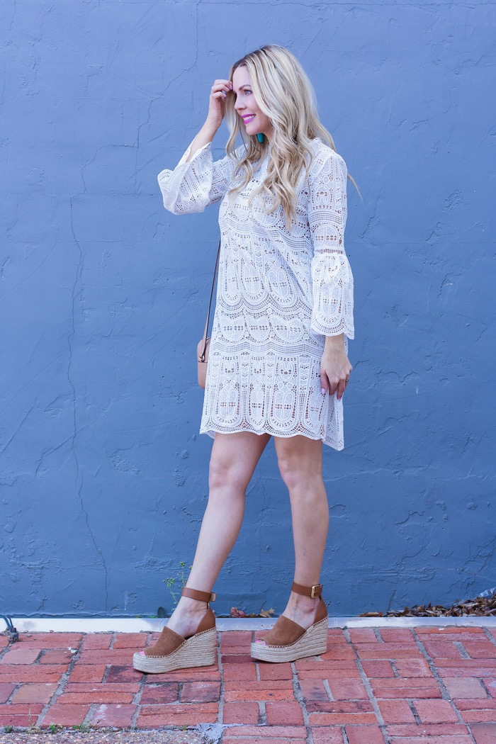 curls cashmere pinterest white crochet dress marc fisher wedges