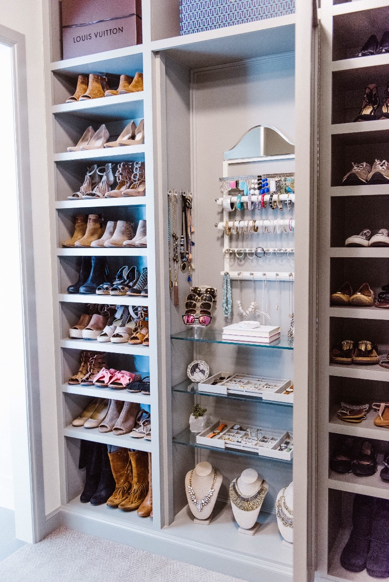 Master closet organization ideas with beeneat organizing co curls and cashmere - Shoe organizers for small spaces design ...