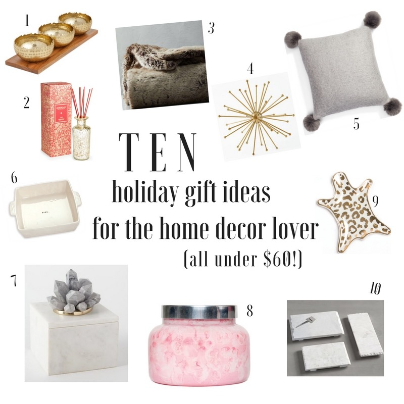 Holiday Gift Ideas for the Home under $60