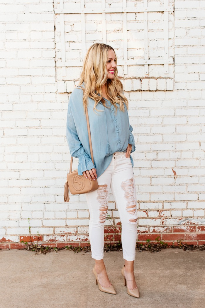 Ways to Wear White Jeans in Spring | Fashion