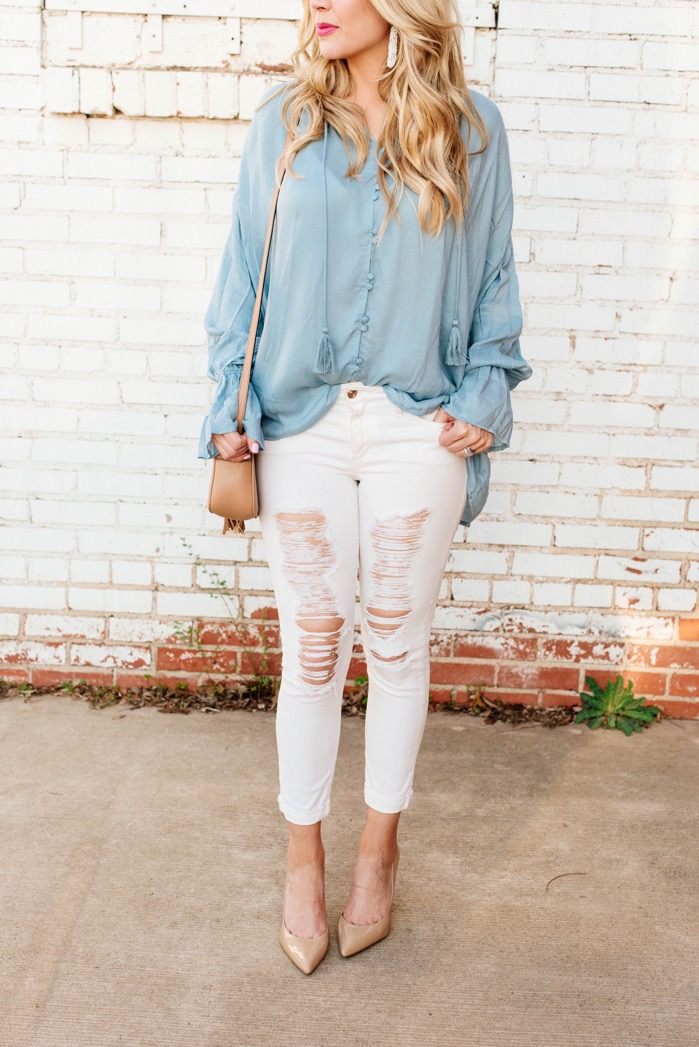 3 Ways to Wear White Jeans for Spring with Thread + Vine ...