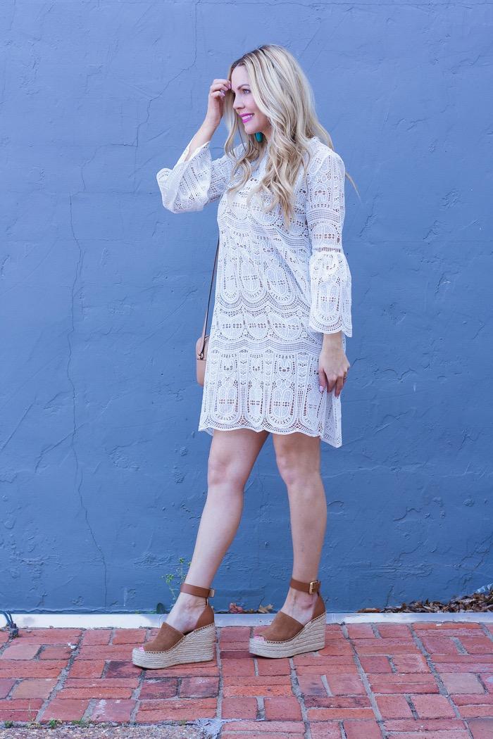 curls cashmere pinterest white crochet dress marc fisher wedges
