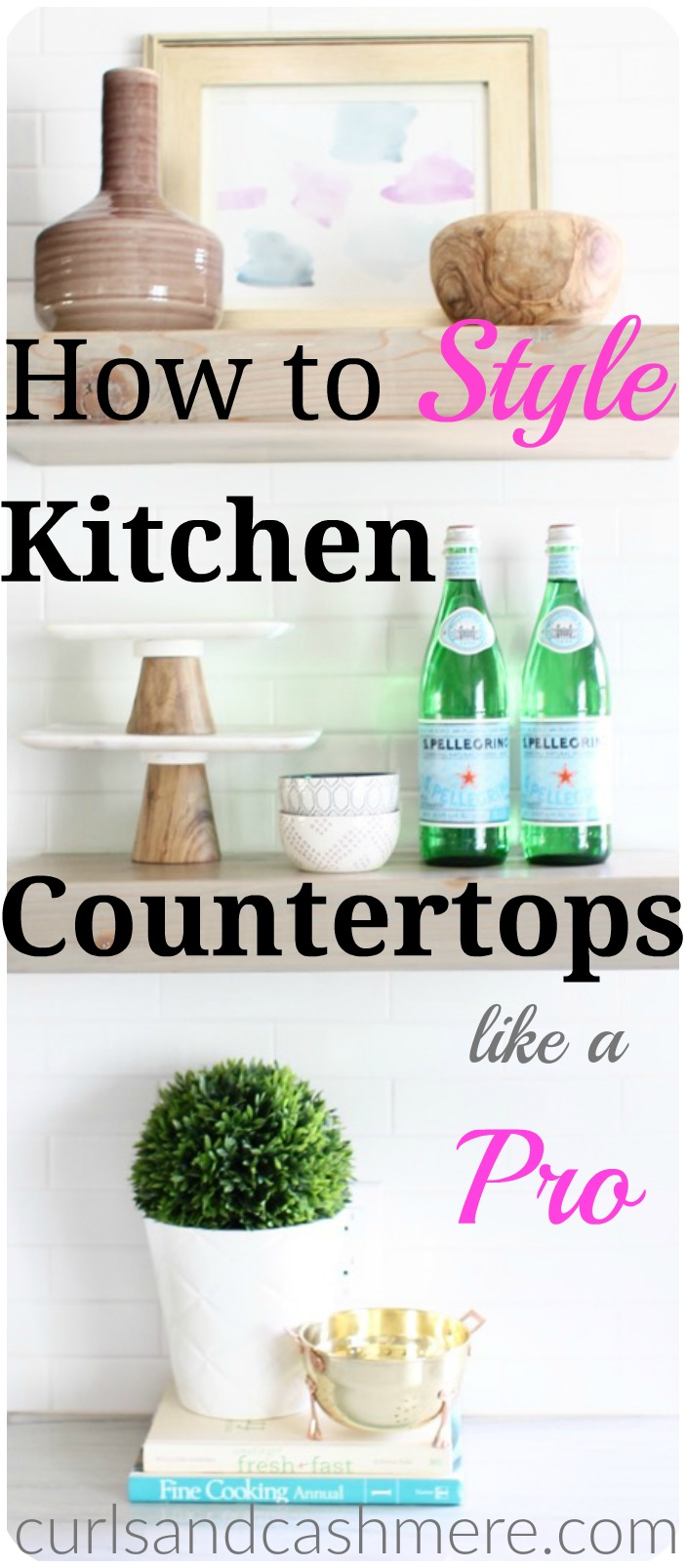 How to style kitchen countertops like a pro curls and for How to decorate a kitchen counter